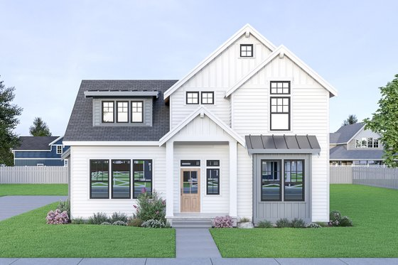 Farmhouse Exterior - Front Elevation Plan #1070-40