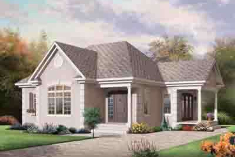 Cottage Exterior - Front Elevation Plan #23-617