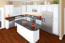 Southern Interior - Kitchen Plan #21-354