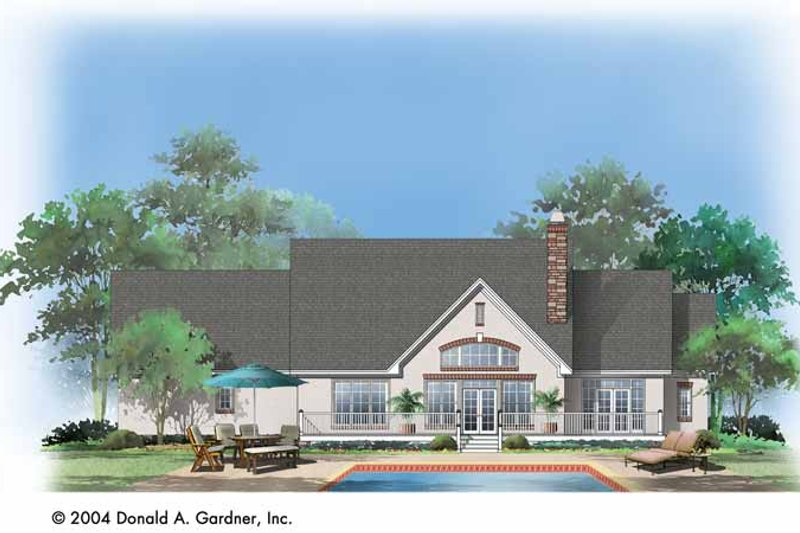 Country Exterior - Rear Elevation Plan #929-722 - Houseplans.com