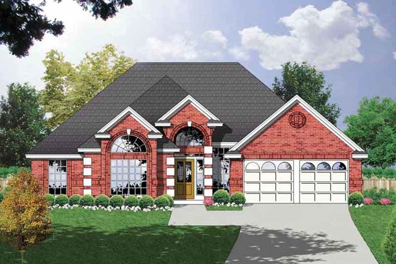 Ranch Exterior - Front Elevation Plan #40-444