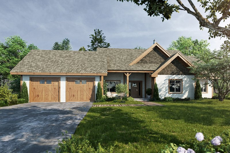 Architectural House Design - Ranch Exterior - Front Elevation Plan #942-54