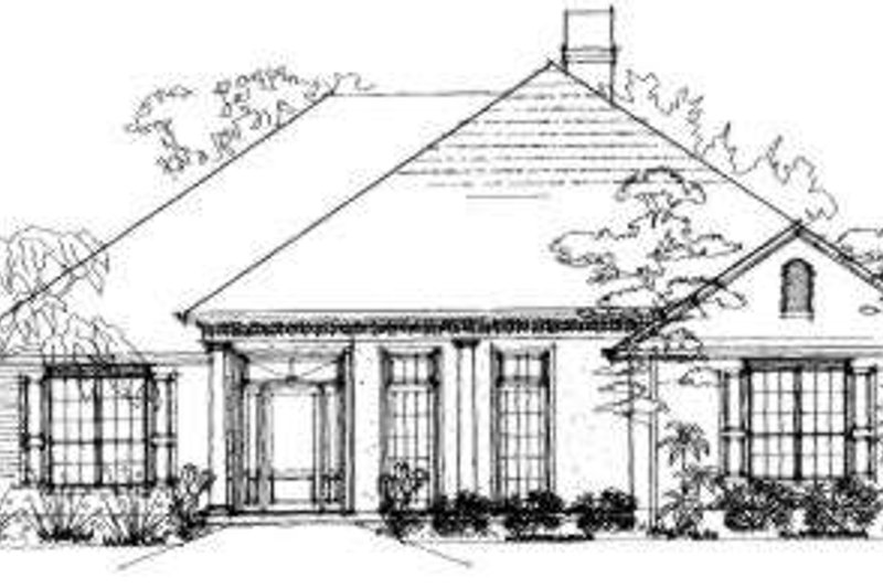 Traditional Exterior - Front Elevation Plan #325-215 - Houseplans.com