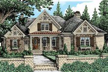 Tudor Exterior - Front Elevation Plan #927-431