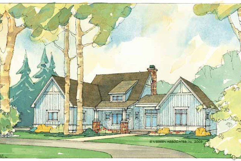Architectural House Design - Craftsman Exterior - Front Elevation Plan #928-56