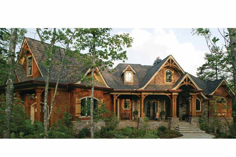 Craftsman Exterior - Front Elevation Plan #54-338 - Houseplans.com