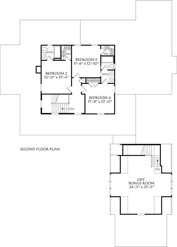 Home Plan - Farmhouse Floor Plan - Upper Floor Plan #927-1021