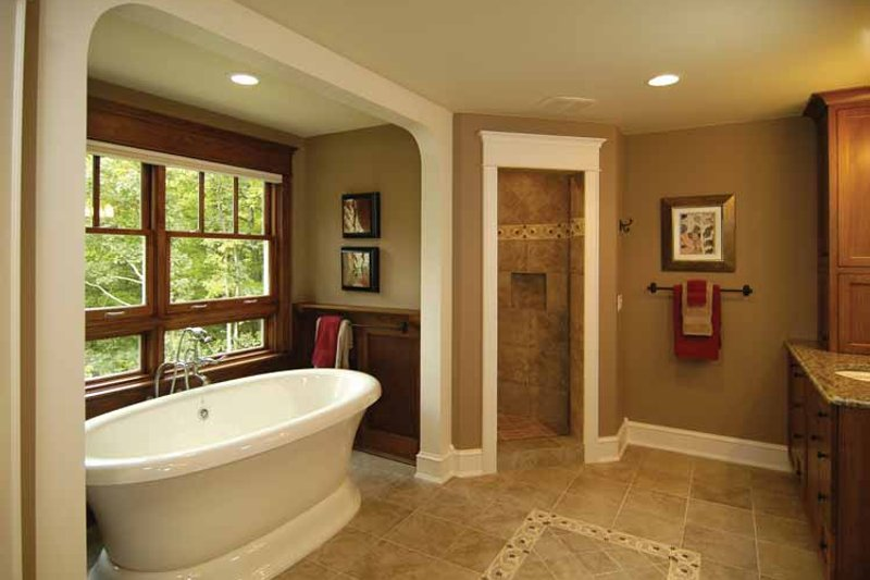 Craftsman Interior - Master Bathroom Plan #928-30 - Houseplans.com