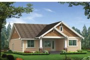 Craftsman Style House Plan - 3 Beds 2 Baths 1488 Sq/Ft Plan #132-529 Exterior - Rear Elevation