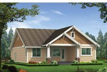 Craftsman Exterior - Rear Elevation Plan #132-529