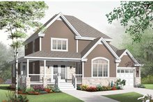 Home Plan - Country Exterior - Front Elevation Plan #23-2555