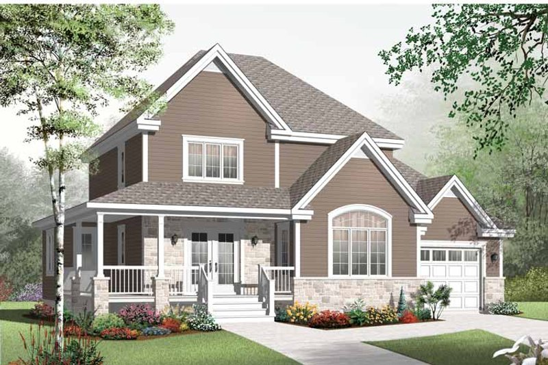 Country Exterior - Front Elevation Plan #23-2555 - Houseplans.com
