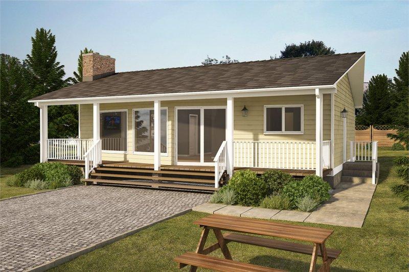 Home Plan - Cottage Exterior - Front Elevation Plan #126-215