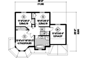 Victorian Style House Plan - 3 Beds 1 Baths 1596 Sq/Ft Plan #25-4708 Floor Plan - Upper Floor Plan