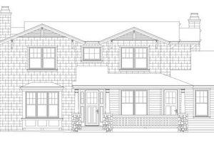 Craftsman Exterior - Front Elevation Plan #490-32