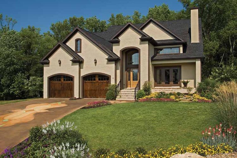Country Exterior - Front Elevation Plan #929-651