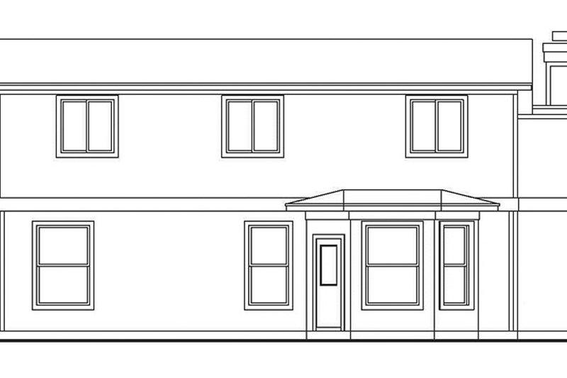 Country Exterior - Rear Elevation Plan #472-384 - Houseplans.com