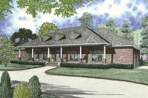 Country Exterior - Front Elevation Plan #17-2680