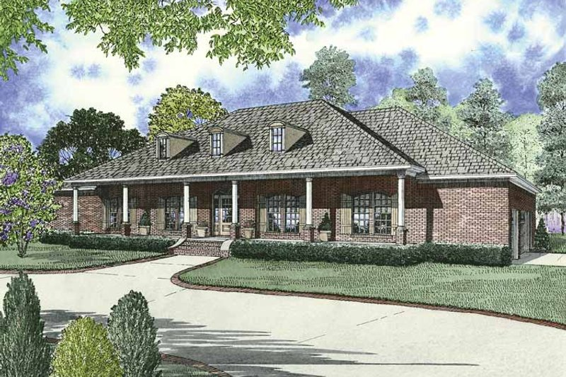 Country Exterior - Front Elevation Plan #17-2680 - Houseplans.com