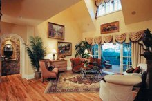 Architectural House Design - European Interior - Family Room Plan #437-66