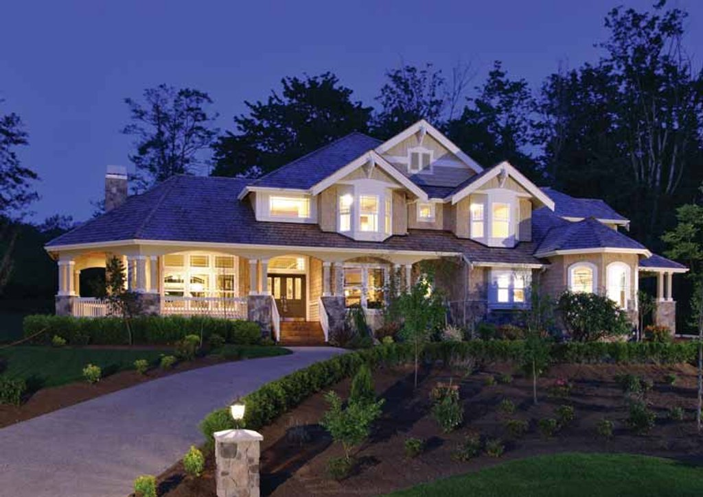 Craftsman style house plan 4 beds 3 5 baths 4100 sq ft for Homeplan com