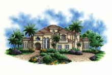 Mediterranean Exterior - Front Elevation Plan #1017-102