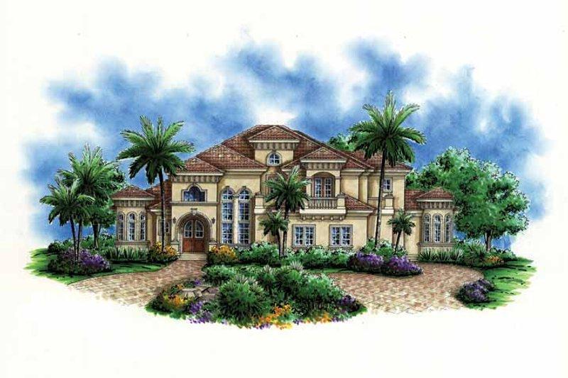 House Design - Mediterranean Exterior - Front Elevation Plan #1017-102