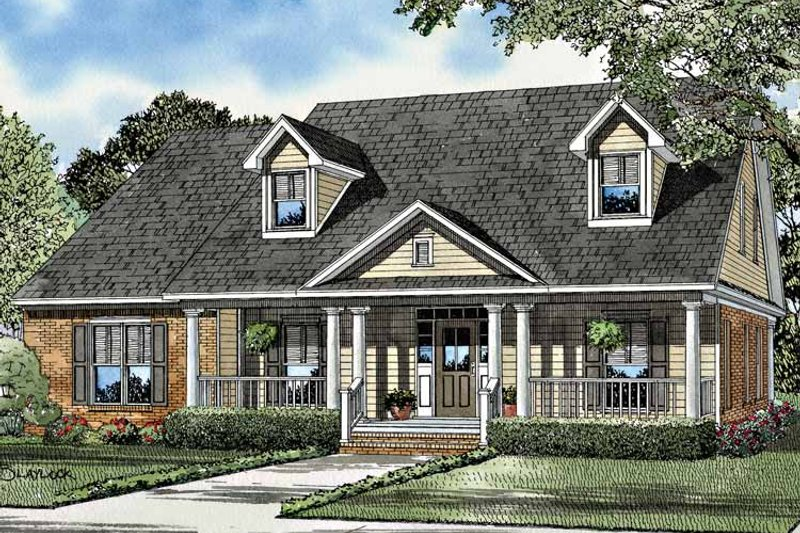 Country Exterior - Front Elevation Plan #17-3128 - Houseplans.com