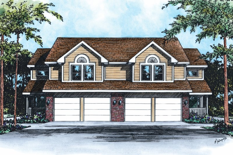 Home Plan Design - Traditional Exterior - Front Elevation Plan #20-565