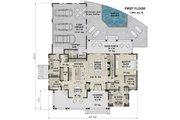 Farmhouse Style House Plan - 4 Beds 4.5 Baths 2913 Sq/Ft Plan #51-1153 Floor Plan - Main Floor