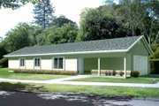 Ranch Style House Plan - 3 Beds 2 Baths 1205 Sq/Ft Plan #1-1065 Exterior - Front Elevation