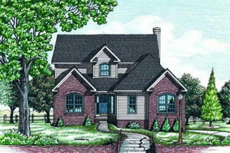 Traditional Exterior - Front Elevation Plan #20-452 - Houseplans.com