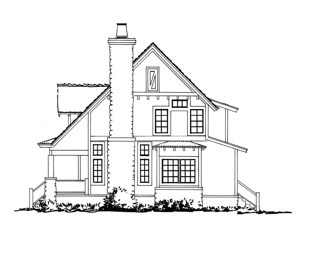 cabin style house plan  ft plan