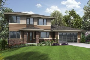 Contemporary Exterior - Front Elevation Plan #48-1013