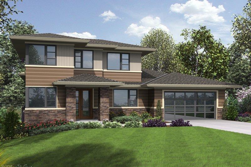House Plan Design - Contemporary Exterior - Front Elevation Plan #48-1013
