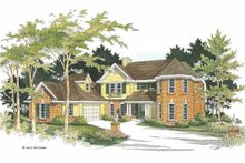 Traditional Exterior - Front Elevation Plan #952-5