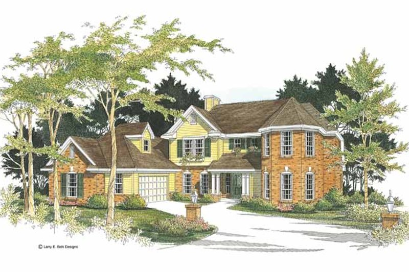 House Plan Design - Traditional Exterior - Front Elevation Plan #952-5