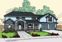Home Plan - Country Exterior - Front Elevation Plan #60-831