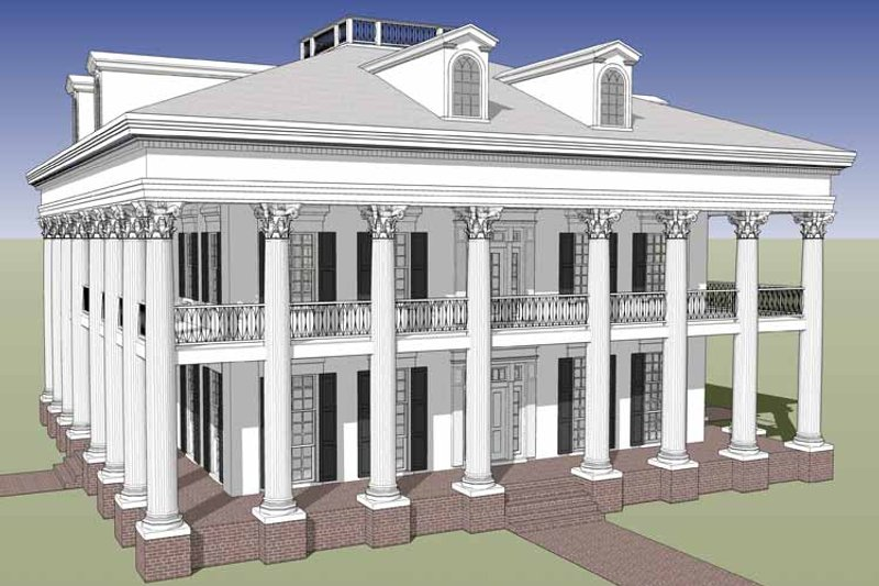 Classical Exterior - Front Elevation Plan #64-297 - Houseplans.com