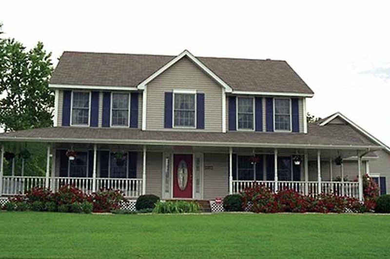 House Design - Country Exterior - Front Elevation Plan #51-732