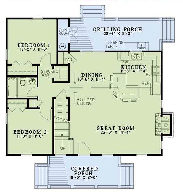 Cottage Floor Plan - Main Floor Plan Plan #17-2018