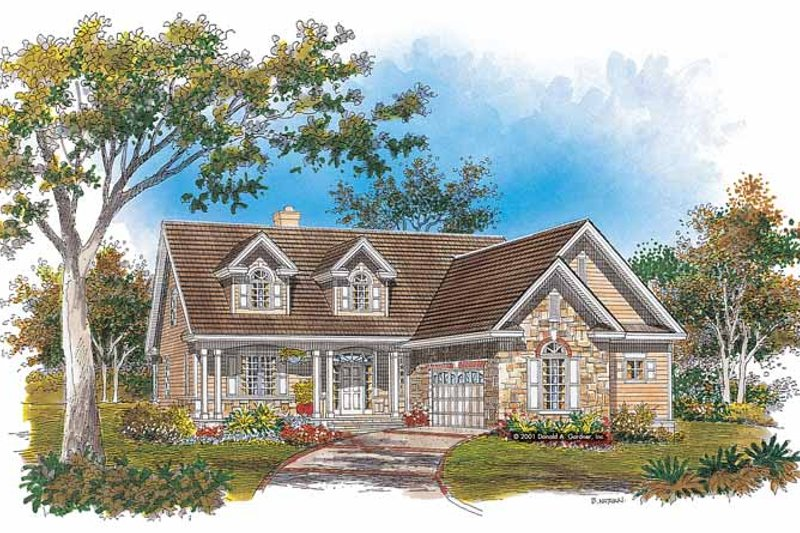 Home Plan - Country Exterior - Front Elevation Plan #929-630