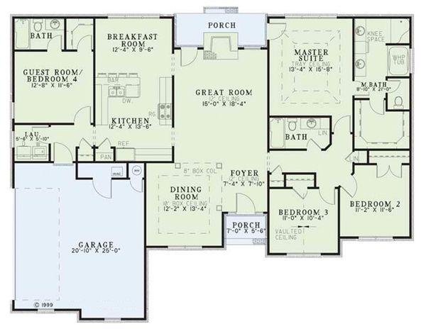 Traditional Floor Plan - Main Floor Plan Plan #17-1040