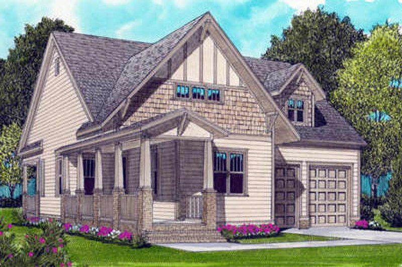 Bungalow Style House Plan - 2 Beds 2 Baths 1958 Sq/Ft Plan #413-793 Exterior - Front Elevation