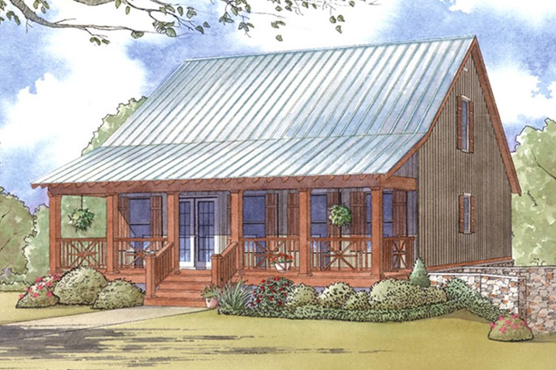 Country Exterior - Front Elevation Plan #17-3395