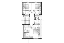Country Floor Plan - Upper Floor Plan Plan #23-2495