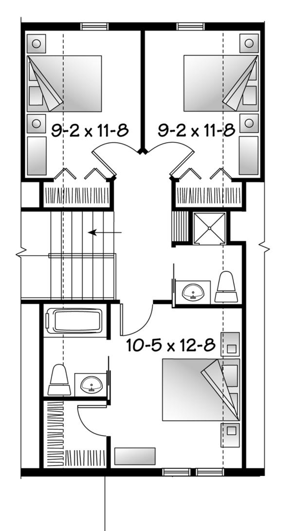 Home Plan - Country Floor Plan - Upper Floor Plan #23-2495