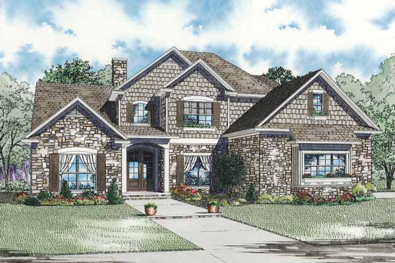 Traditional Exterior - Front Elevation Plan #17-3269 - Houseplans.com