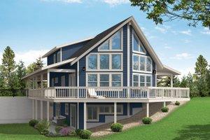 House Design - Craftsman Exterior - Rear Elevation Plan #124-1242