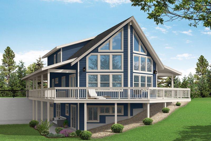 House Plan Design - Craftsman Exterior - Rear Elevation Plan #124-1242